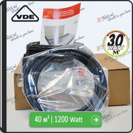 40м¹ǀ1200W C&F Black Cable