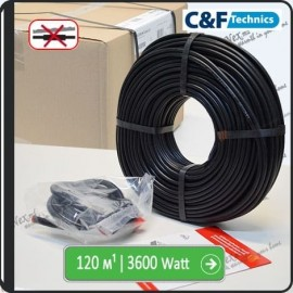 120м¹ǀ3600W C&F Black Cable