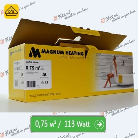 Magnum Mat 0,75 м² - 113 Ватт. Теплый пол под плитку.