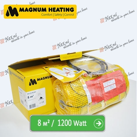 Magnum Mat 8,0 м² - 1200 Ватт. Теплый пол под плитку