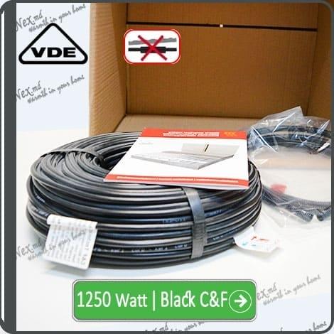 Резистивный кабель для обогрева труб 1250w-mhc17 Black