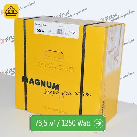 Нагревательный кабель Магнум 73,5 м/п - 1250 Ватт