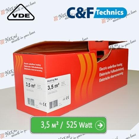 Heating Mat 3,5 м² - 525 Ватт. Нагревательный мат под плитку