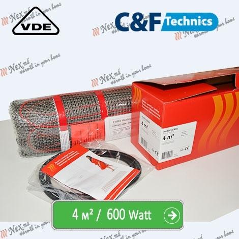 Heating Mat 4 м² - 600 Ватт. Нагревательный мат под плитку