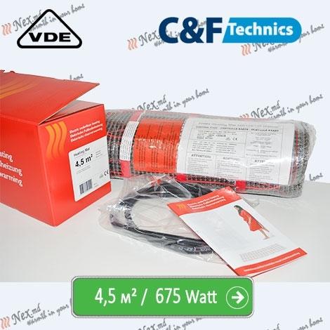 Heating Mat 4,5 м² - 675 Ватт. Нагревательный мат под плитку
