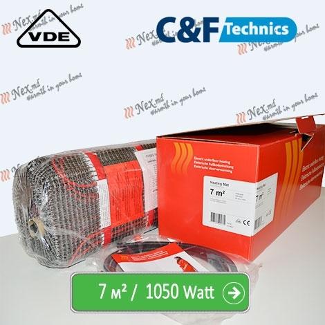 Heating Mat 7 м² - 1050 Ватт. Нагревательный мат под плитку