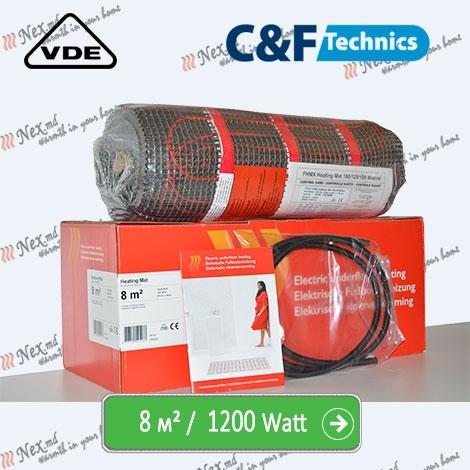 Heating Mat 8 м² - 1200 Ватт. Нагревательный мат под плитку