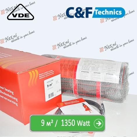 Heating Mat 9 м² - 1350 Ватт. Нагревательный мат под плитку