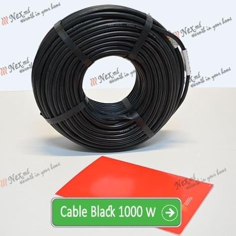 Нагревательный кабель «C&F Technics 17 Black» - 1000 Ватт
