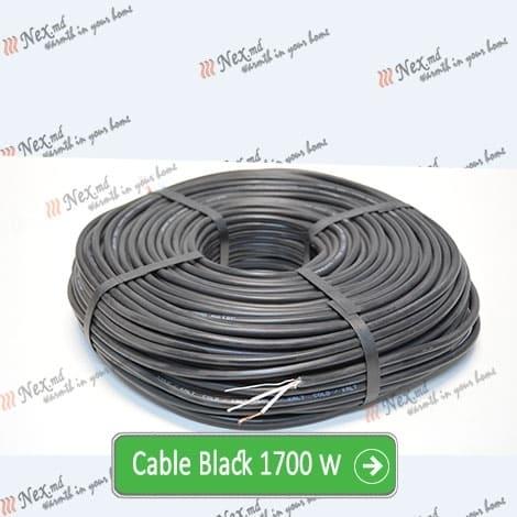 Нагревательный кабель «C&F Technics 17 Black» - 1700 Ватт