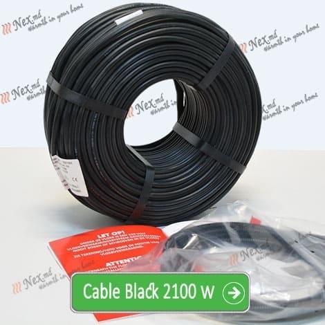 Нагревательный кабель «C&F Technics 17 Black» - 2100 Ватт