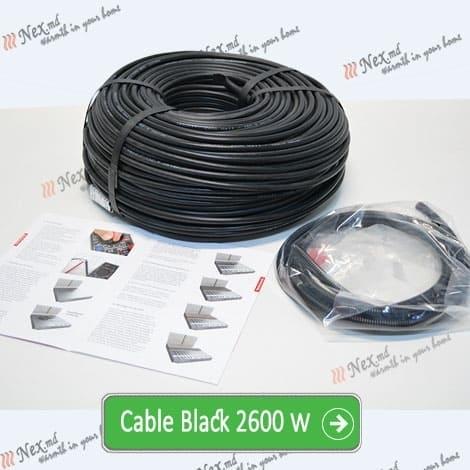 Нагревательный кабель «C&F Technics 17 Black» - 2600 Ватт