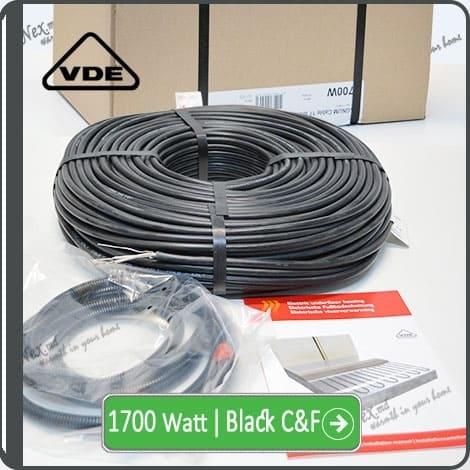 Резистивный кабель для обогрева труб 1700w-mhc17 Black