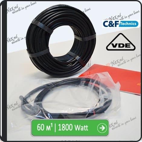 60м¹ǀ1800W C&F Black Cable