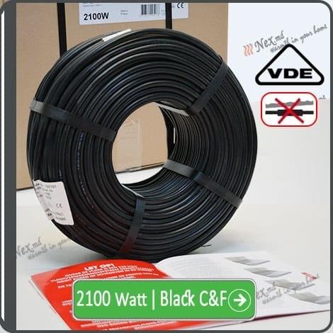 Резистивный кабель для обогрева труб 2100w-mhc17 Black