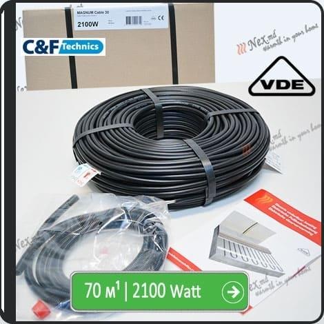 70м¹ǀ2100W C&F Black Cable