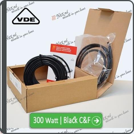 Резистивный кабель для обогрева труб 300w-mhc17 Black