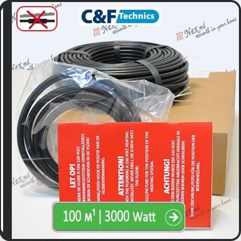 100м¹ǀ3000W C&F Black Cable
