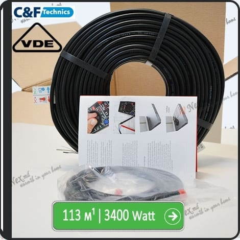 113м¹ǀ3400W C&F Black Cable