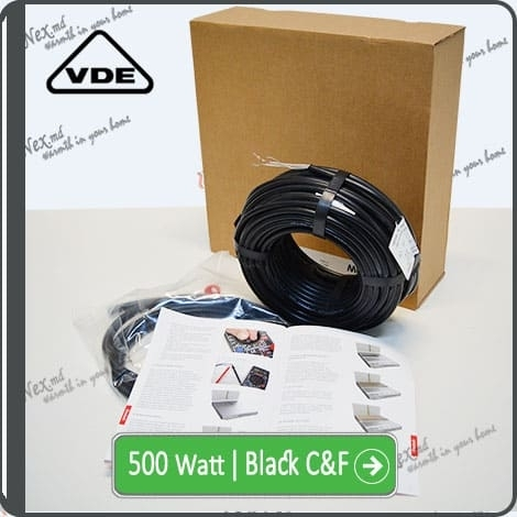 Резистивный кабель для обогрева труб 500w-mhc17 Black