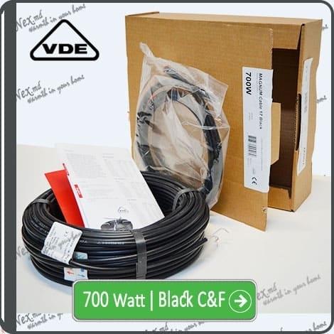 Резистивный кабель для обогрева труб 700w-mhc17 Black