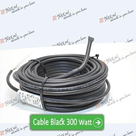 Нагревательный кабель «C&F Technics 17 Black» - 300 Ватт