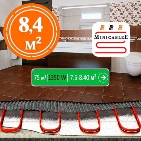 Под плитку или в стяжку «MinicableE»  75 м¹ - 1350 W - «от 7,5 м² до 8,40 м²»