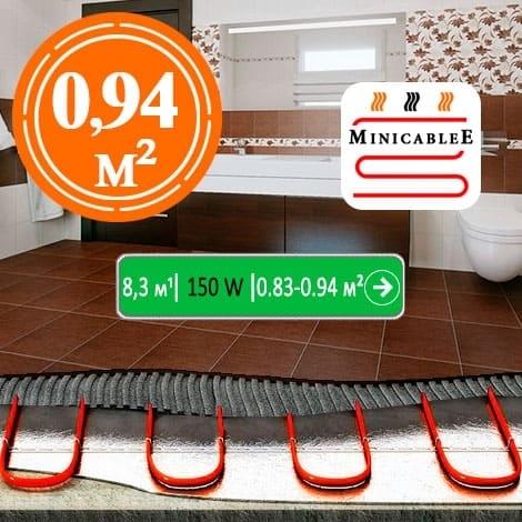 Под плитку или в стяжку MiniCableE 8,3 м¹ - 150 W - «от 0,83 м² до 0,94 м²»