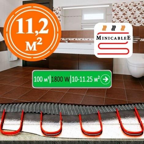 Под плитку или в стяжку MiniCableE  100 м¹ - 1800 W - «от 10 м² до 11,25 м²»