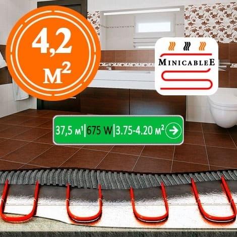 Под плитку или в стяжку MiniCableE  37,5 м¹ - 675 W - «от 3,75 м² до 4,20 м²»
