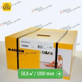 Нагревательный кабель Магнум 58,8 м/п - 1000 Ватт - «от 4,40 м² до 7,35 м²»