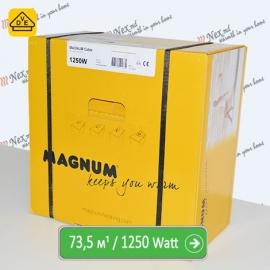 Нагревательный кабель Магнум 73,5 м/п - 1250 Ватт - «от 5,50 м² до 9,20 м²»