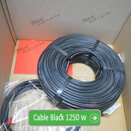 Нагревательный кабель «C&F Technics 17 Black» - 1250 Ватт
