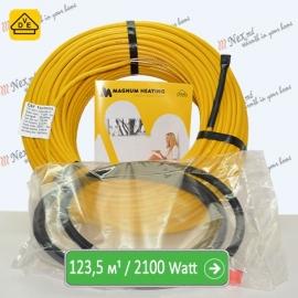 Нагревательный кабель Магнум 123,5 м/п - 2100 Ватт - «от 9,30 м² до 15,40 м²»