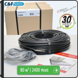 80м¹ǀ2400W C&F Black Cable