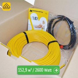 Нагревательный кабель Магнум 152,9 м/п - 2600 Ватт - «от 11,50 м² до 19,10 м²»