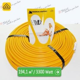 Нагревательный кабель Магнум 194,1 м/п - 3300 Ватт - «от 14,50 м² до 24,20 м²»